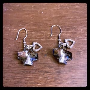 Brighton Karma Cross Heart Earrings